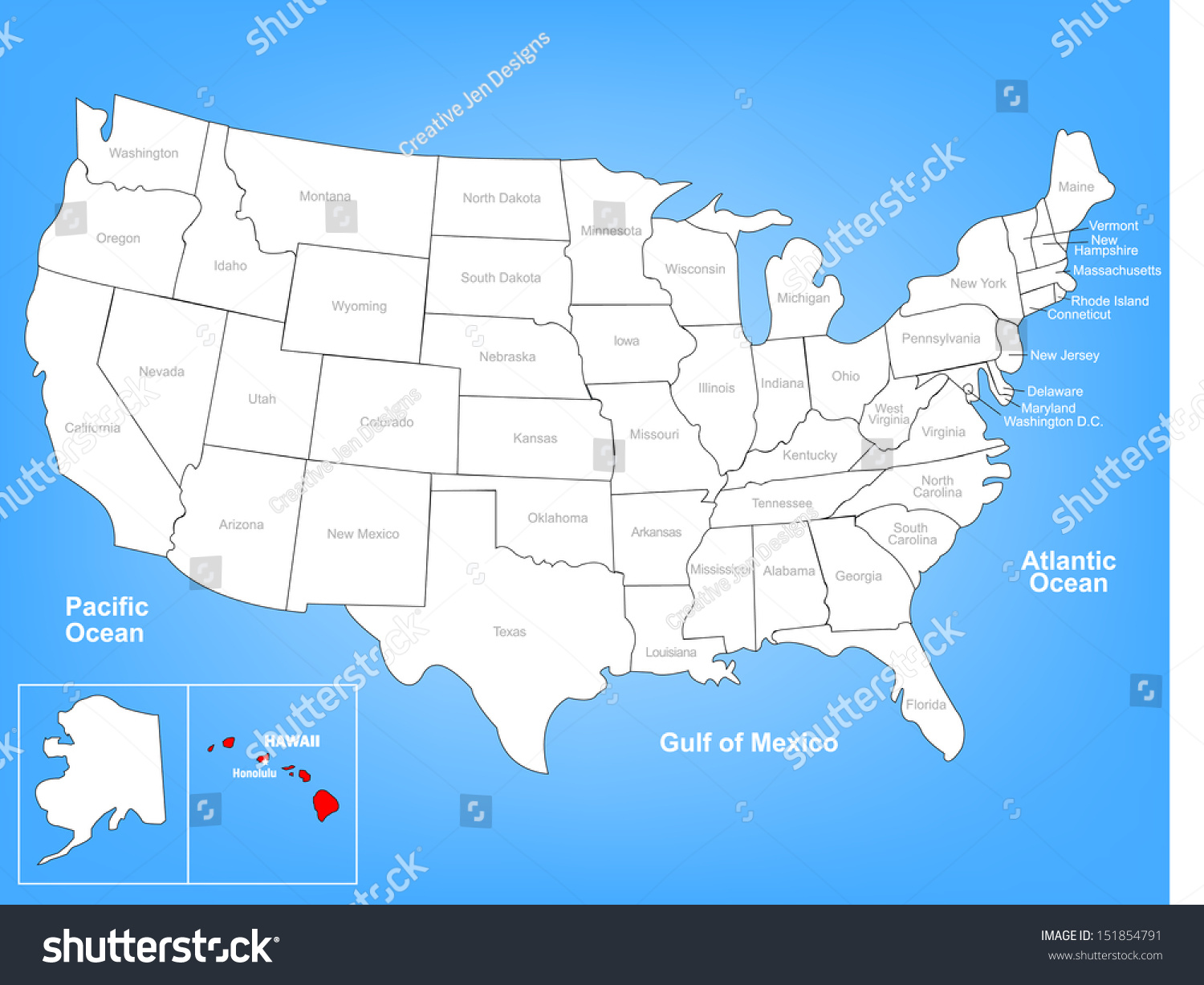 Map Of The United States And Hawaii Map Of The United States And - United states map hawaii