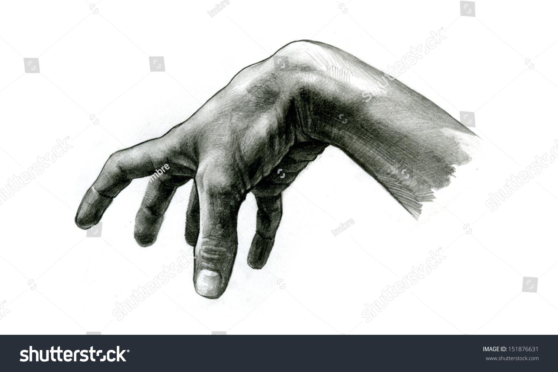 Pencil Drawing Grabbing Hand Stock Photo 151876631 ...Grabbing Hand Drawing
