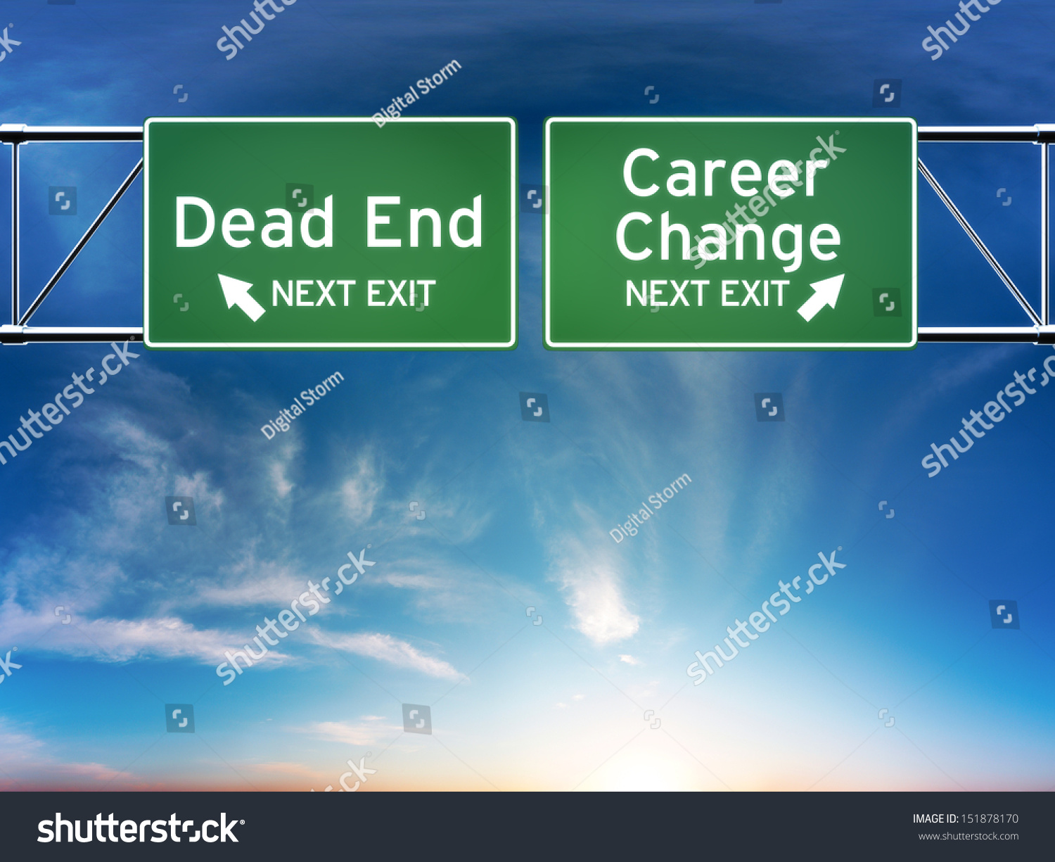 career change dead end job concept stock illustration 151878170 career change or dead end job concept road signs showing your choice in career path