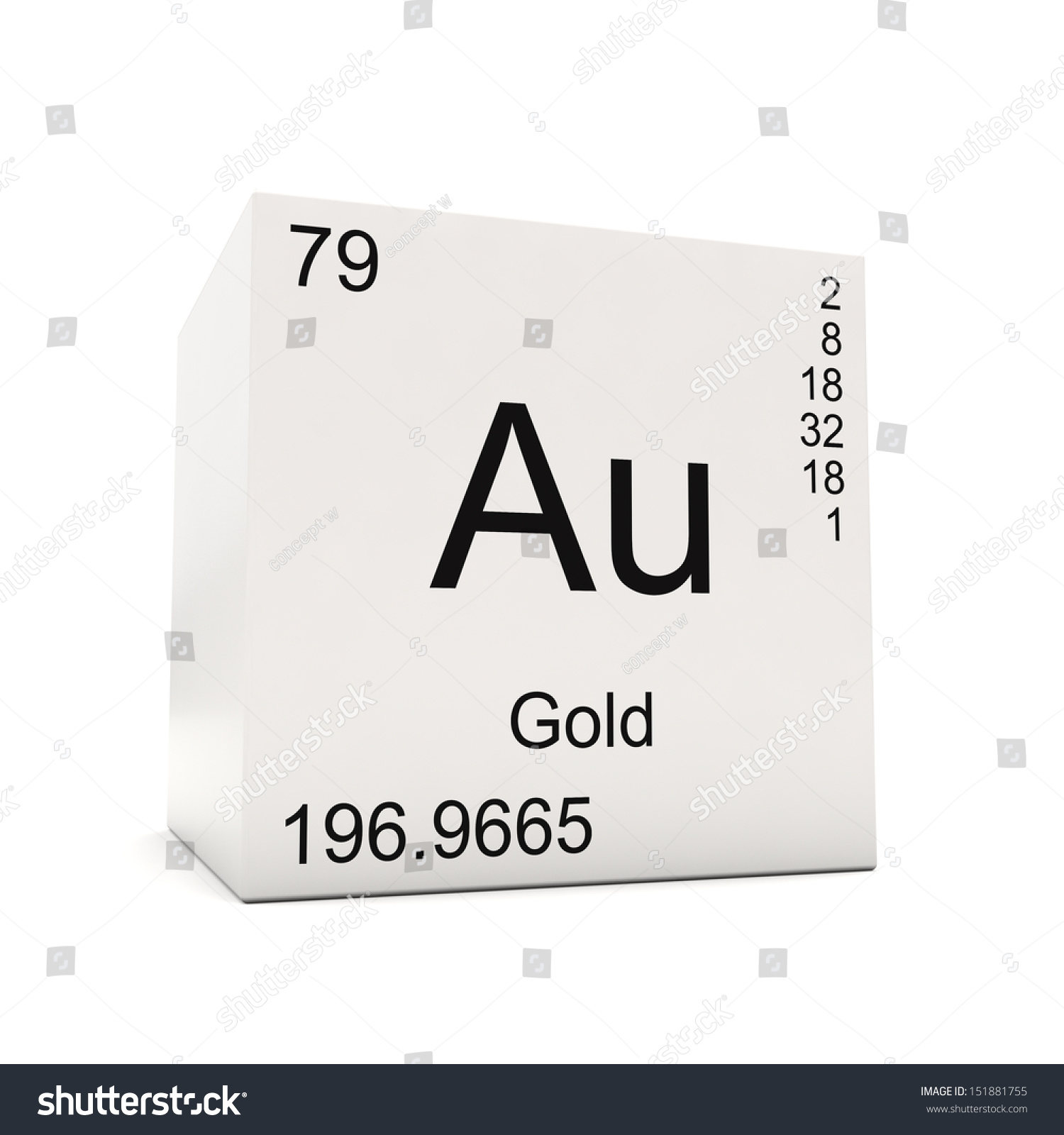 Cube gold element periodic table isolated stock illustration cube of gold element of the periodic table isolated on white background gamestrikefo Image collections