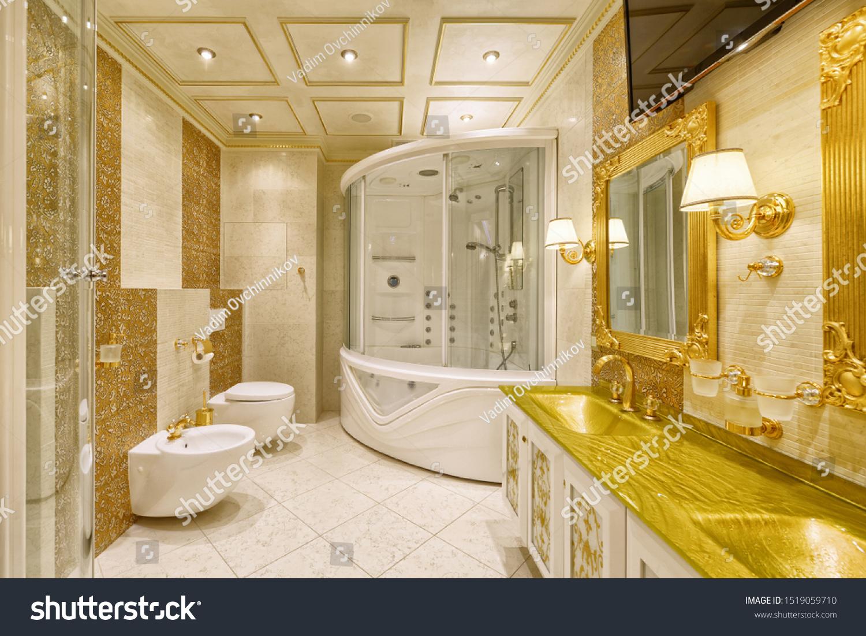 Luxurious Interiors Modern Houseinterior Design Stylish Stock Photo Edit Now 1519059710