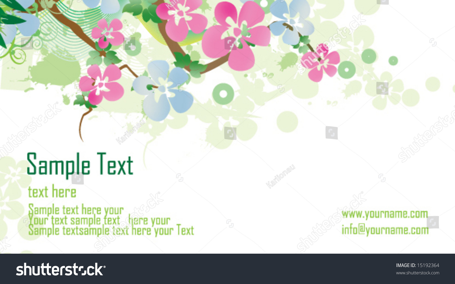 Floral Business Card Stock Vector 15192364 - Shutterstock