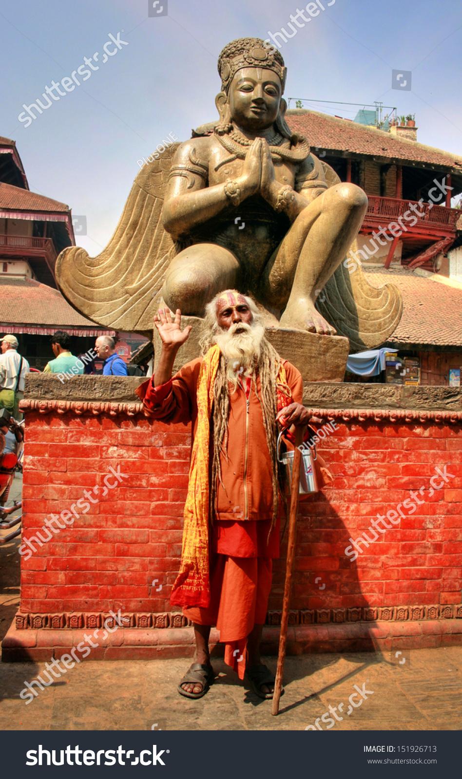 Kathmandu, Nepal - March 2010: Unknown Sadhu Monk On ...