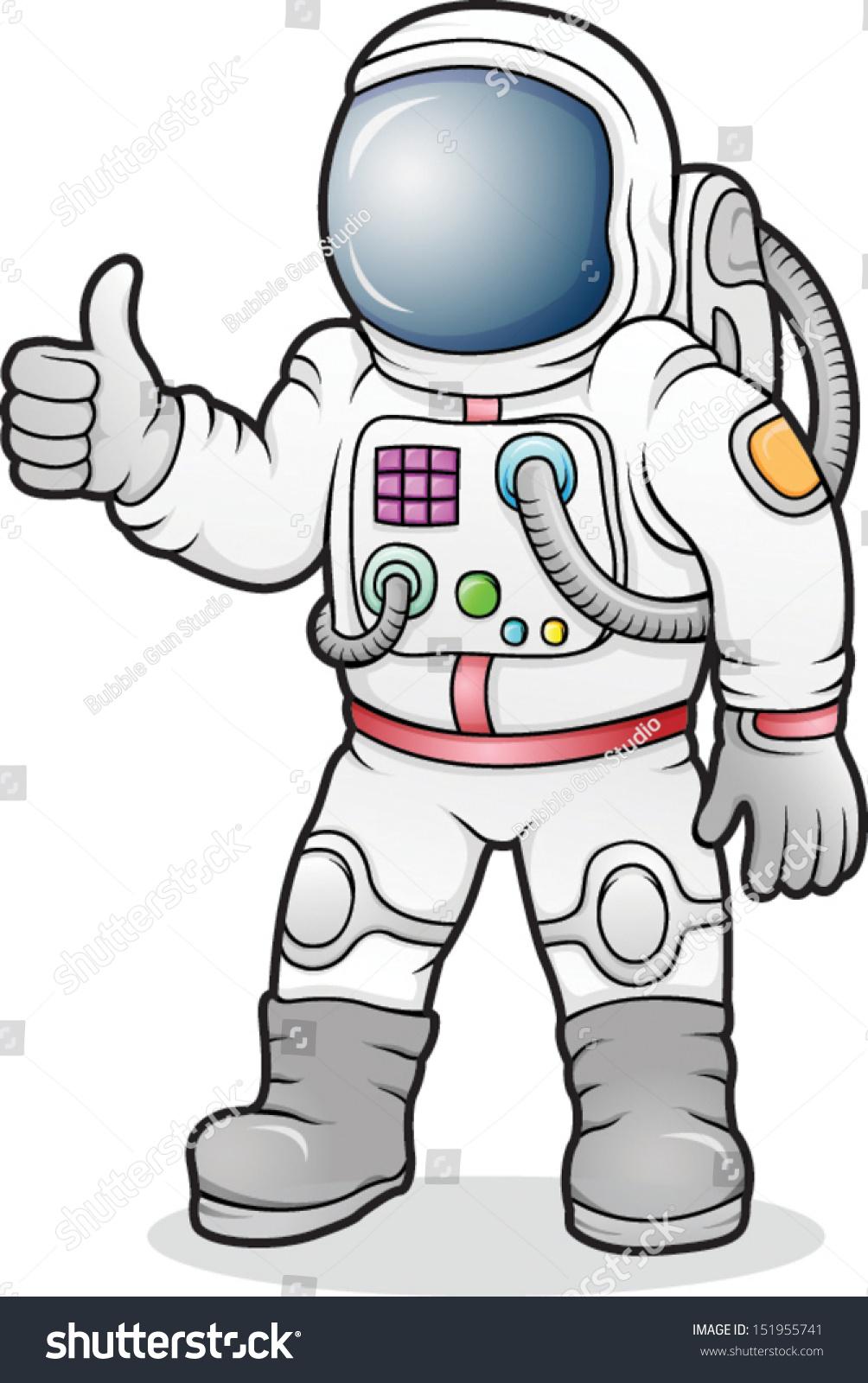 Cartoon Astronaut Vect...
