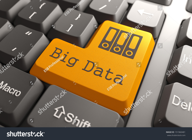 Orange Big Data Button On Computer Stock Illustration ... |Computer Keyboard Info