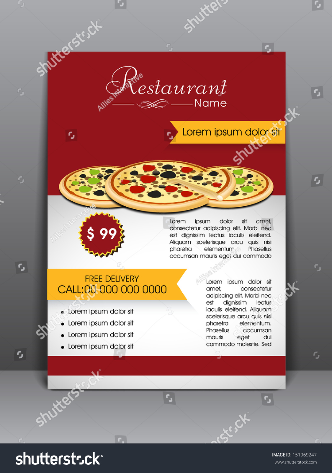 food menu flyer template banner design stock vector  food menu flyer template or banner design can be use for publishing print and