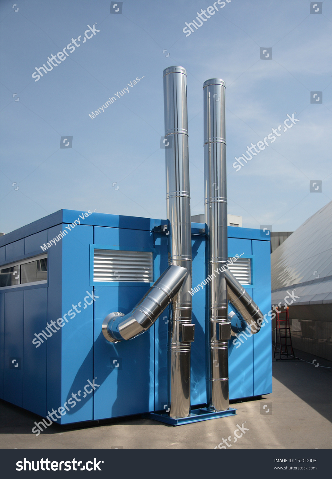 Chimneys Stainless Steel Independent Boilerhouse Stock Photo (Edit ...