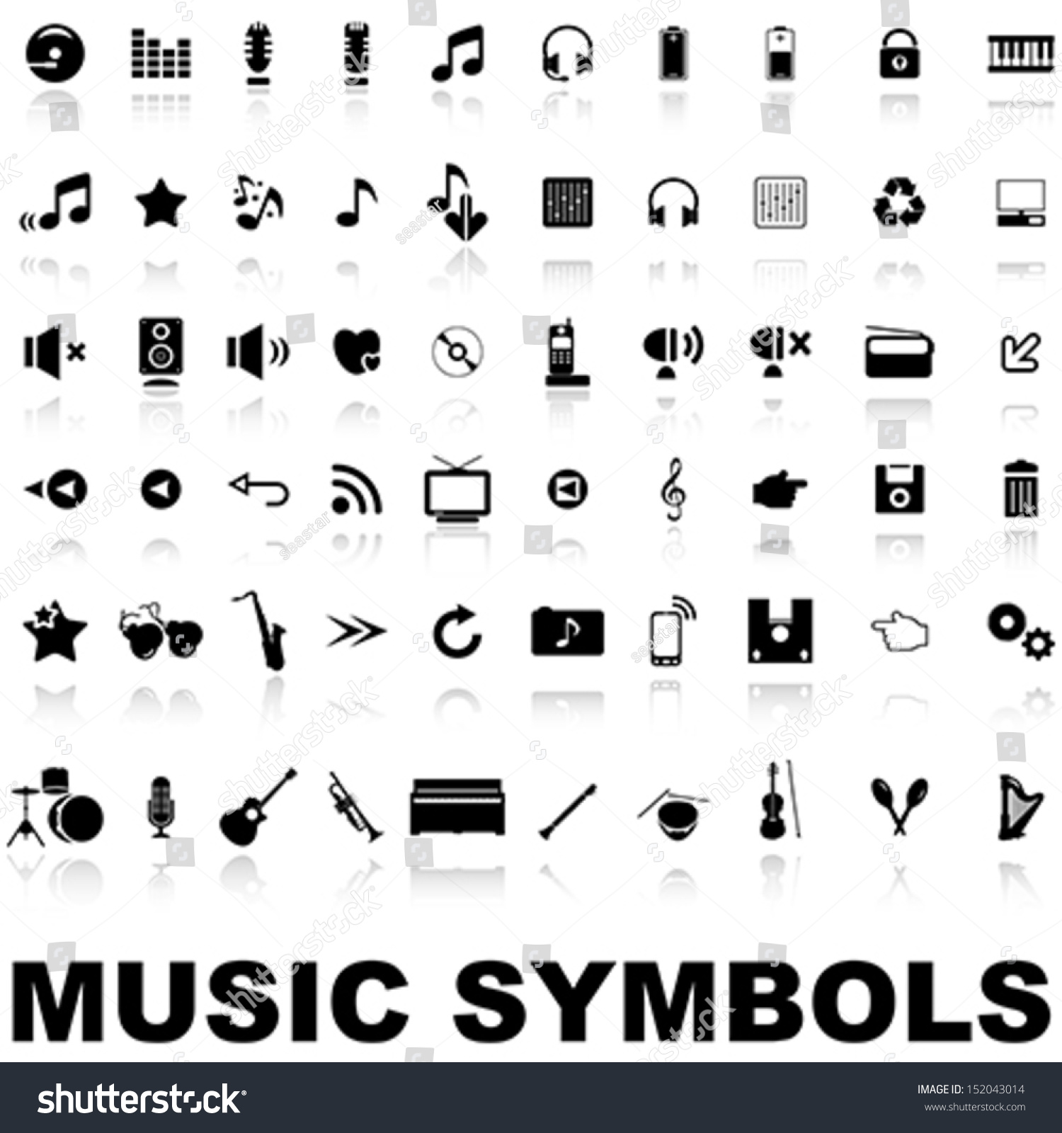 Music symbols stock vector 152043014 shutterstock biocorpaavc Images