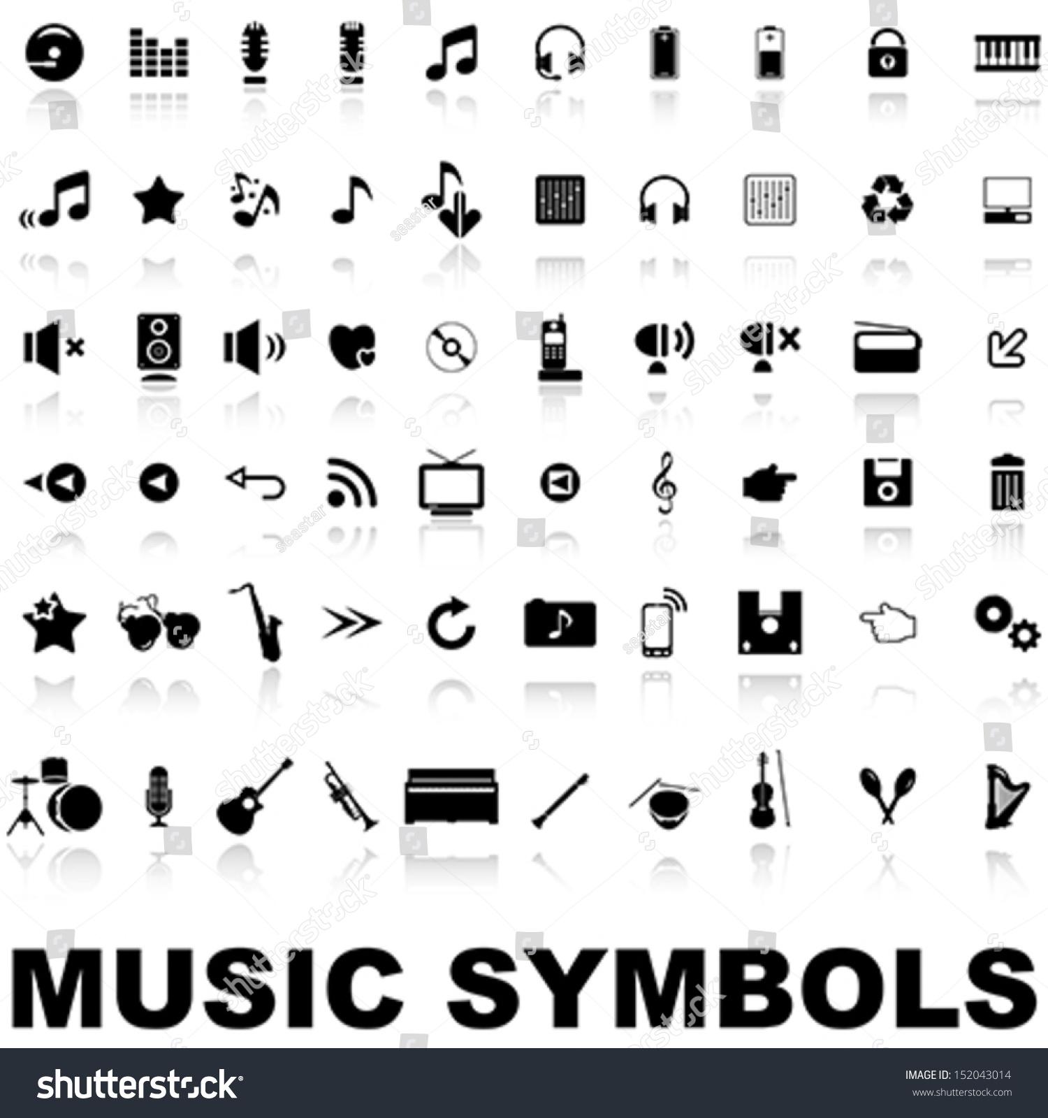 Music symbols stock vector 152043014 shutterstock buycottarizona Gallery