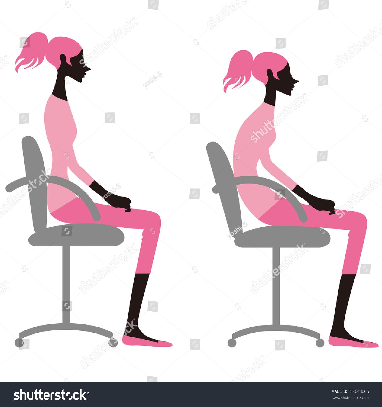 Chair Posture Clip Art – Cliparts