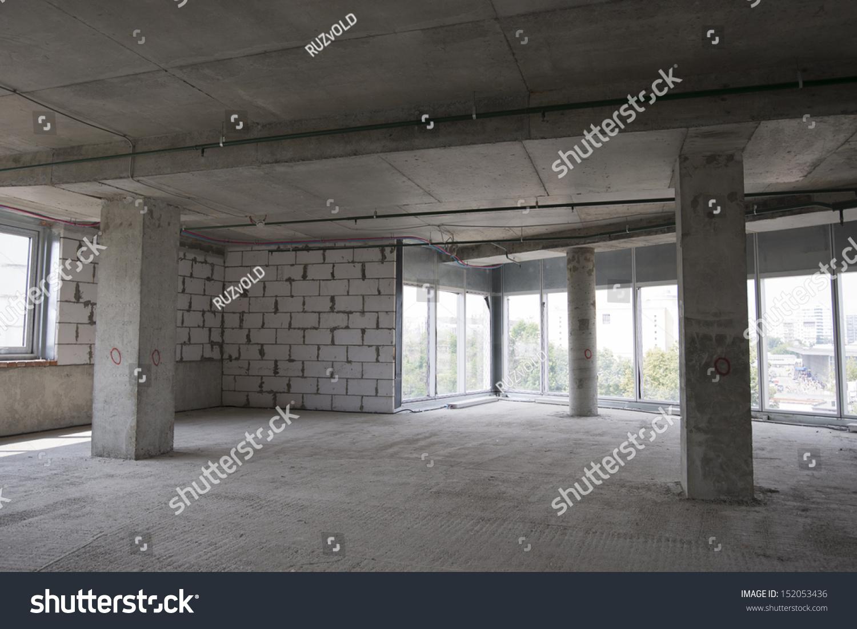 Interior Of Building Under Construction Stock Photo ...