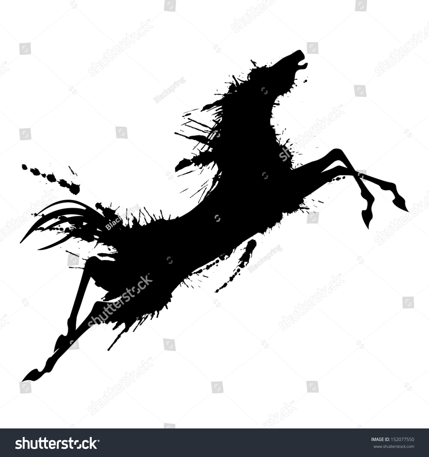 Jumping horse silhouettes
