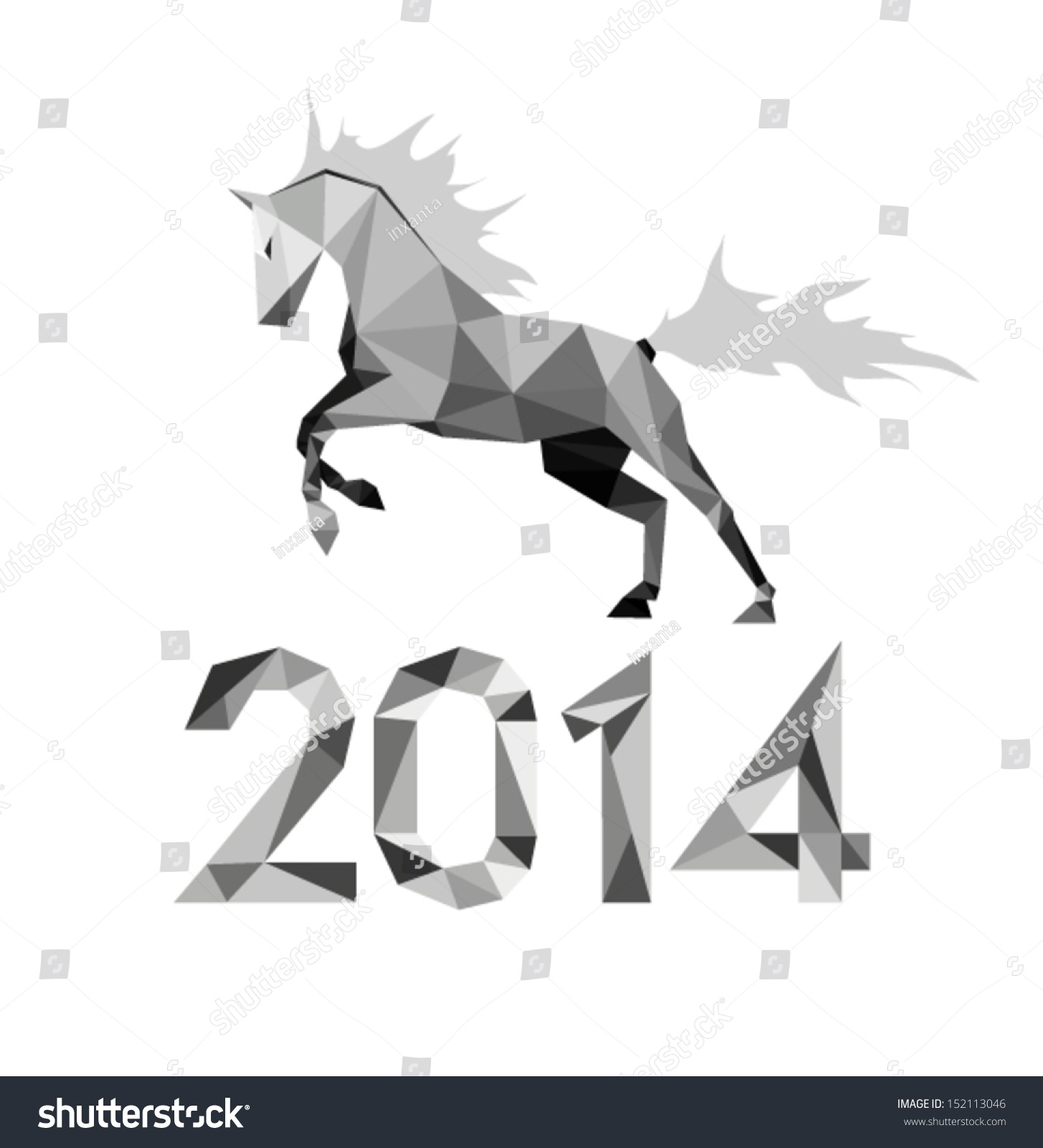 Running Horses Silhouette Wall Border Stock Vector The Running Horse Graphic