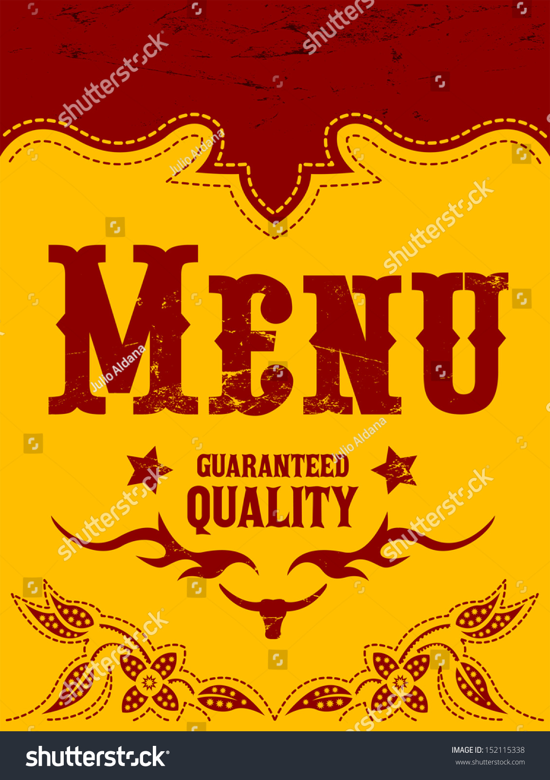 Vector restaurant menu design western style stock