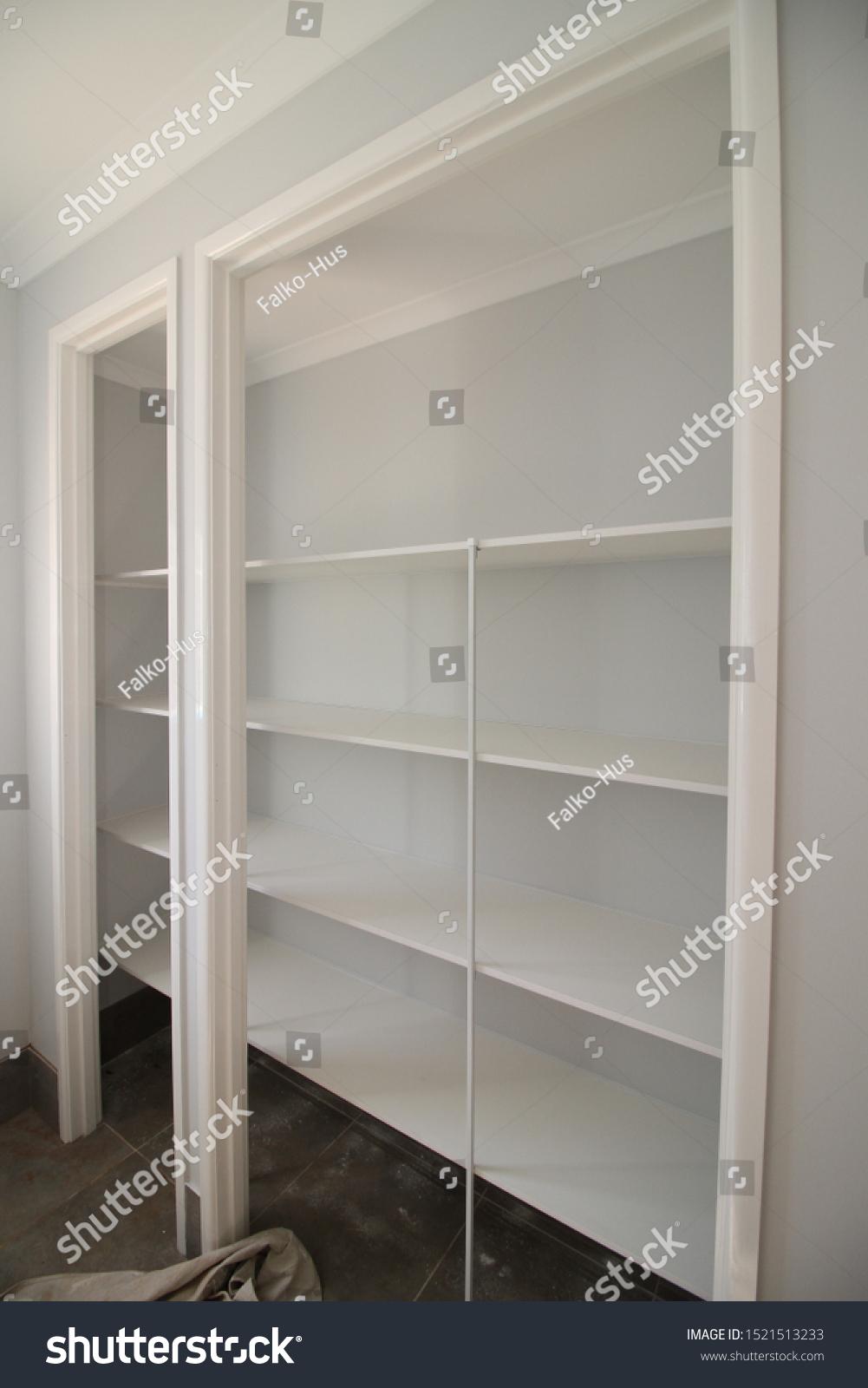 Linen Cupboard White Melamine Storage Stock Photo Edit Now ...