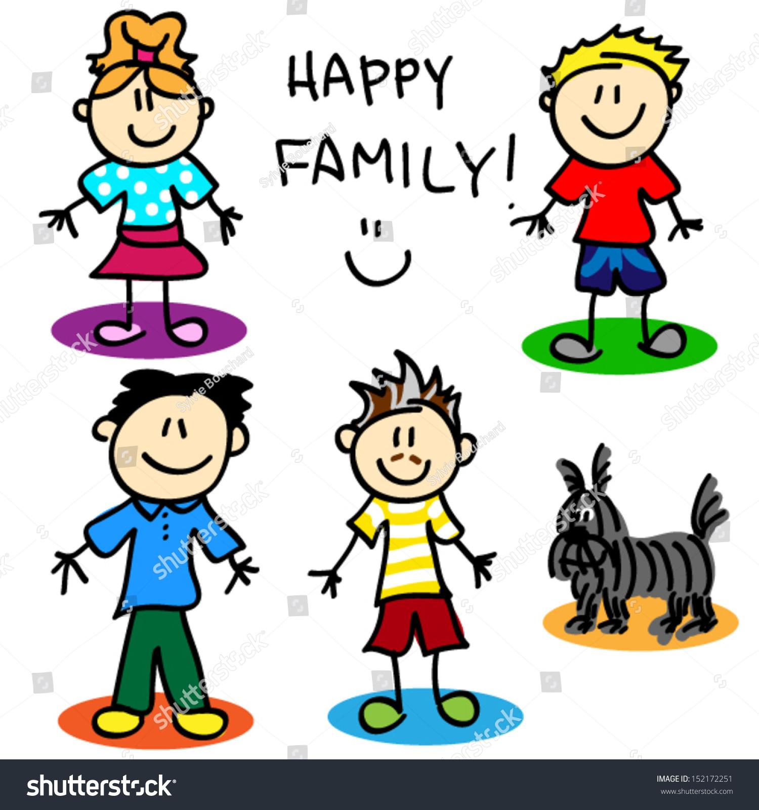 Sjov Tændstikmand Cartoon Gay Familie Stock Vector 152172251 - Shutterstock-1629