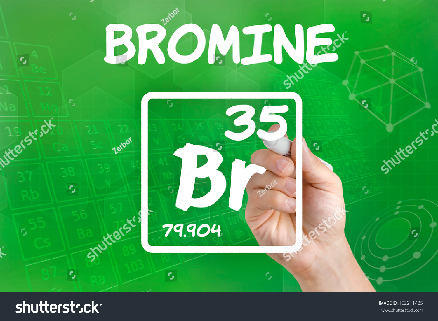 Symbol chemical element bromine stock photo 152211425 shutterstock symbol for the chemical element bromine biocorpaavc