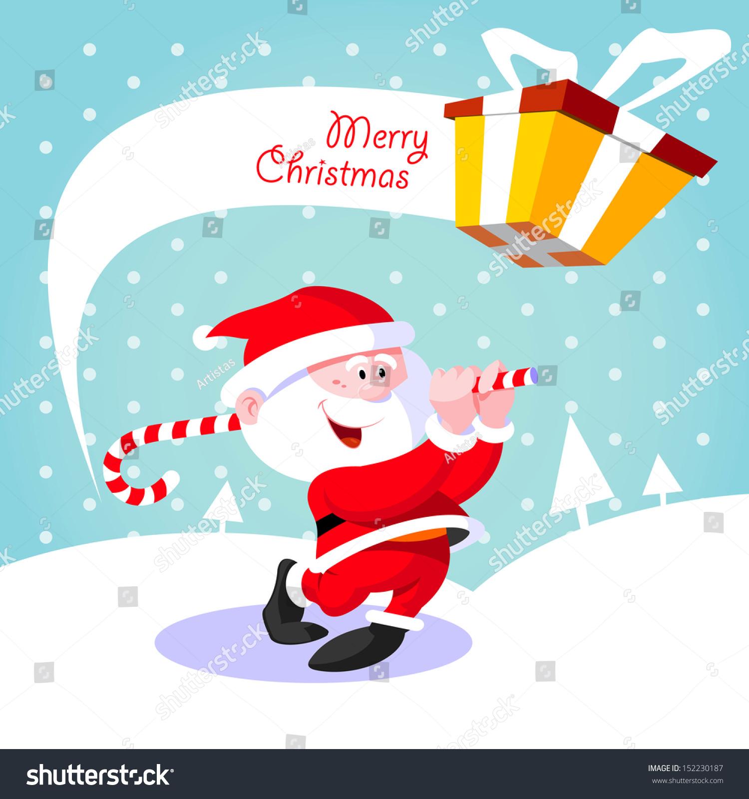 Happy Santa Claus Creative Christmas Card Stock Vector Royalty Free