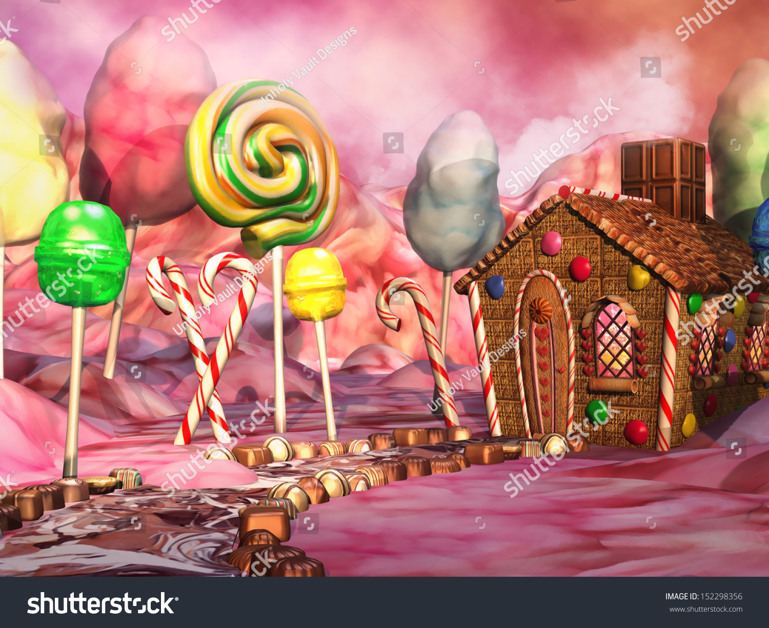 Candyland board background