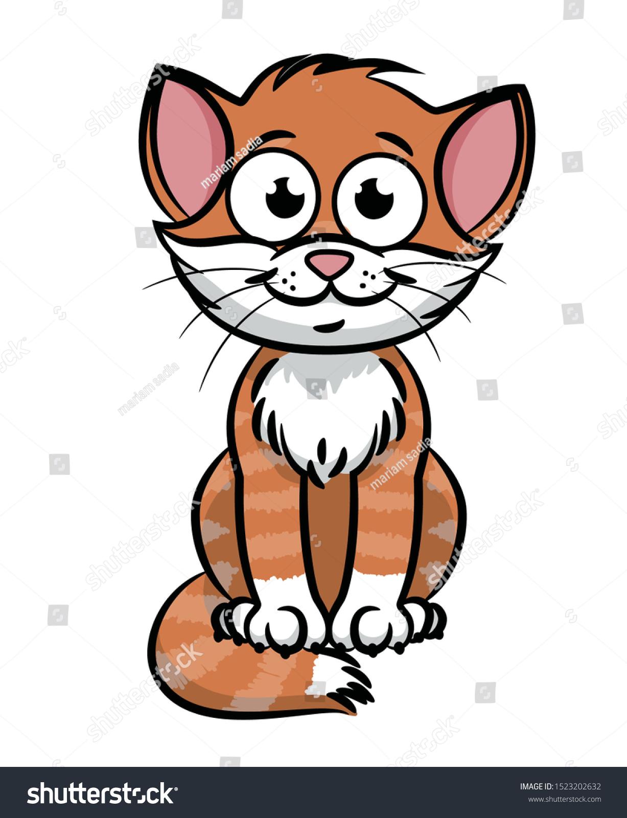 Kitty Cute Cat Cartoon Vector Illustration Stock Vector Royalty Free 1523202632