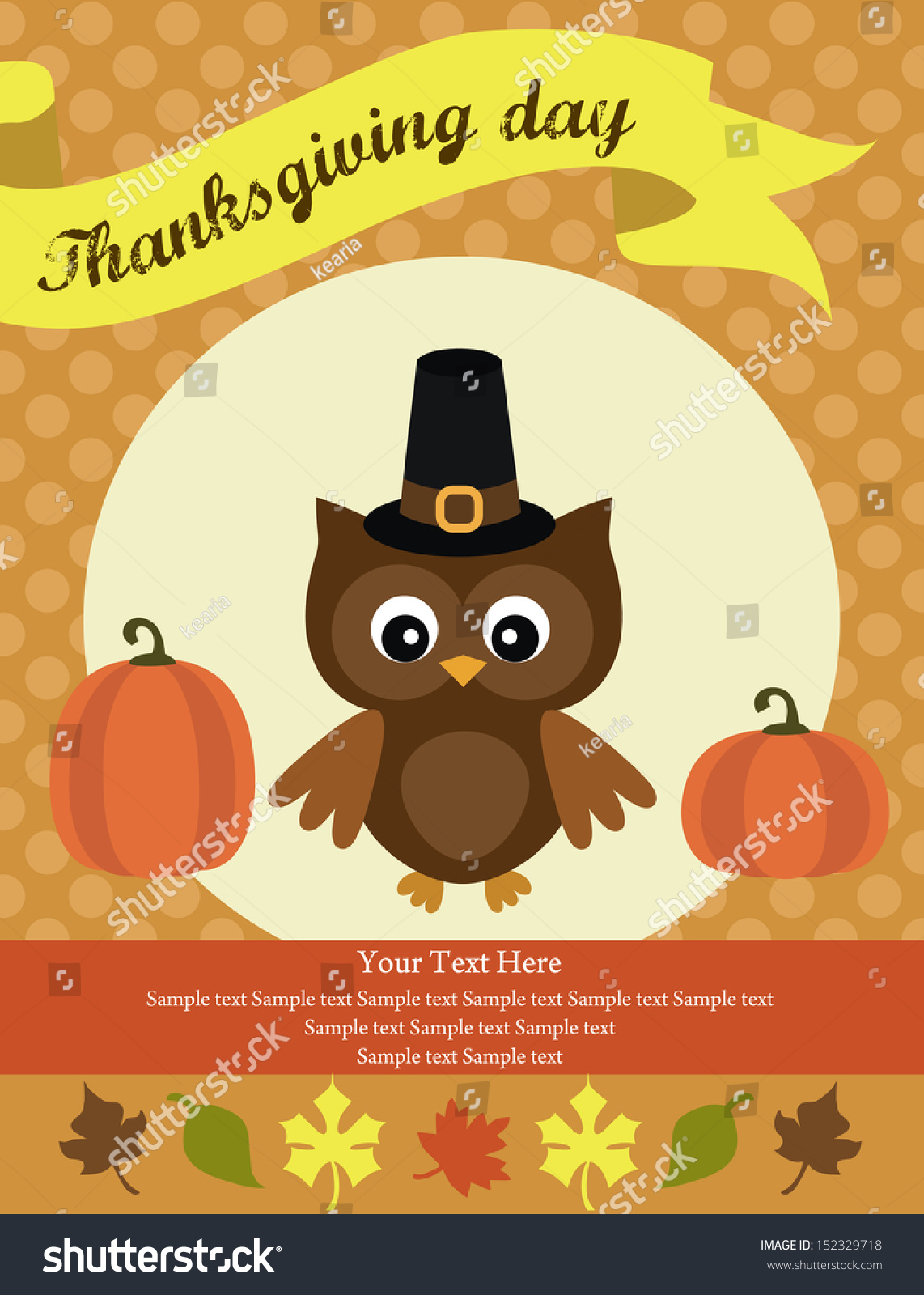 Thanksgiving card design vector illustration stock vector thanksgiving card design vector illustration kristyandbryce Choice Image