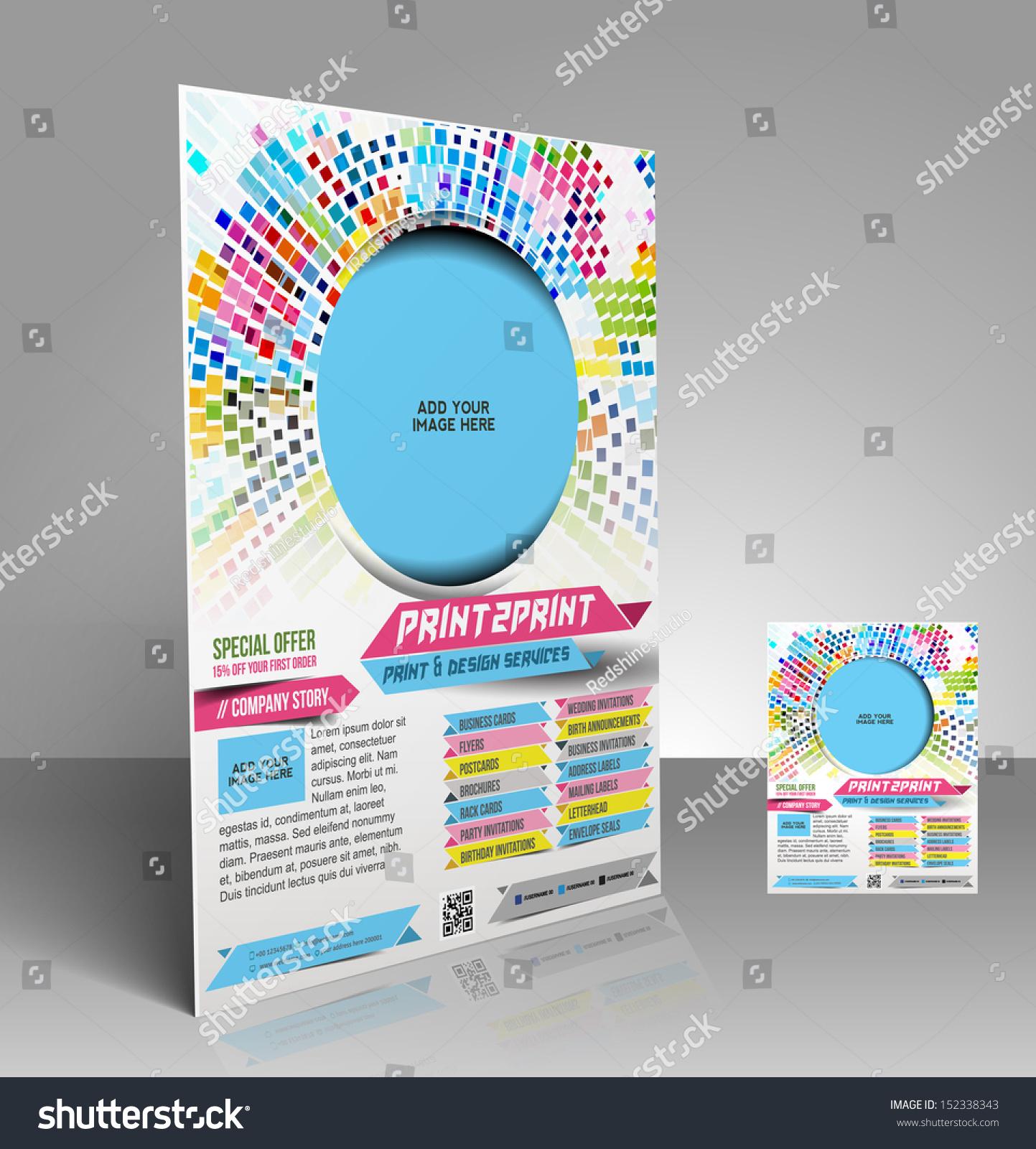 Vector Press Color Management Flyer Magazine Stock Vector HD ...