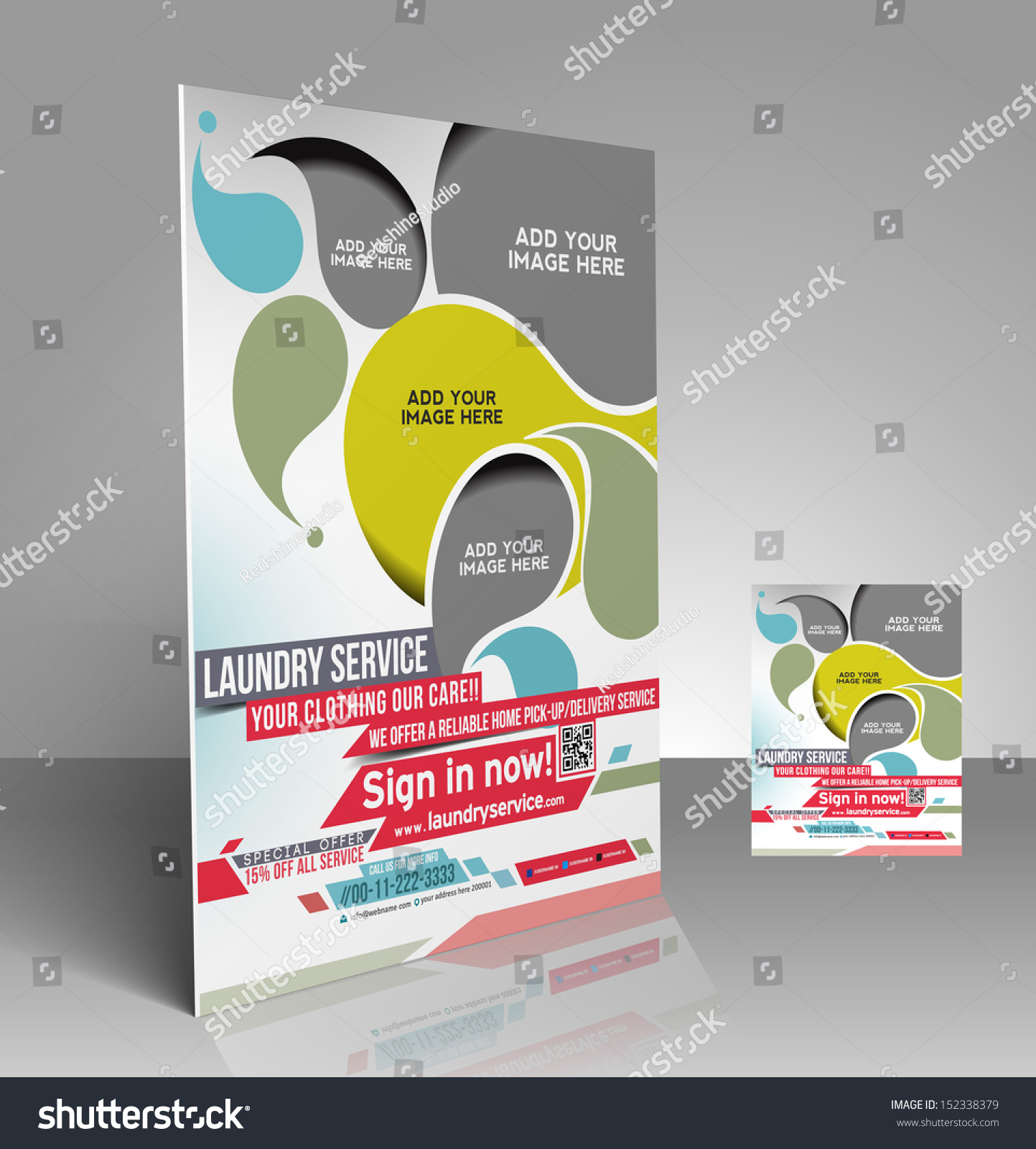 vector laundry service flyer magazine cover stock vector 152338379 vector laundry service flyer magazine cover poster template