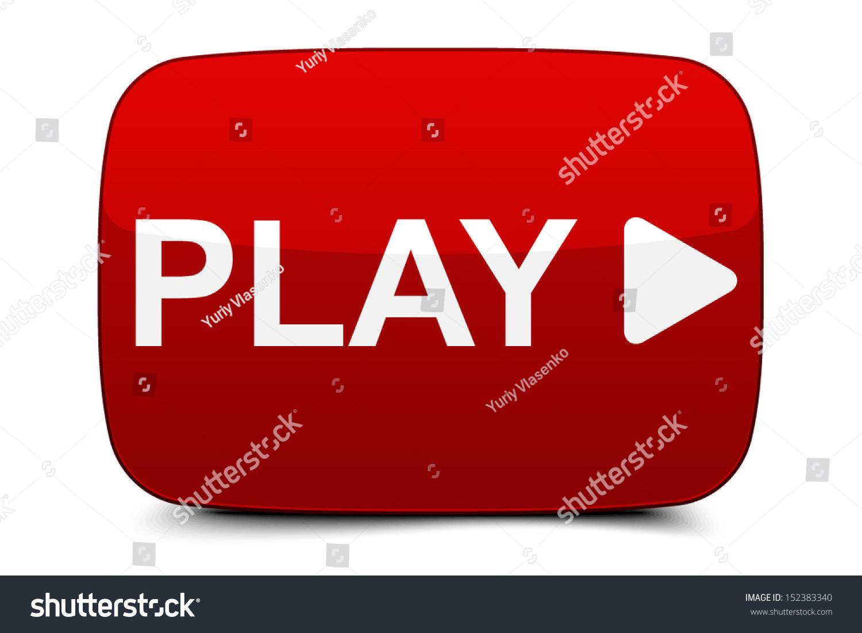 Play Button Stock Vector 152383340 - Shutterstock