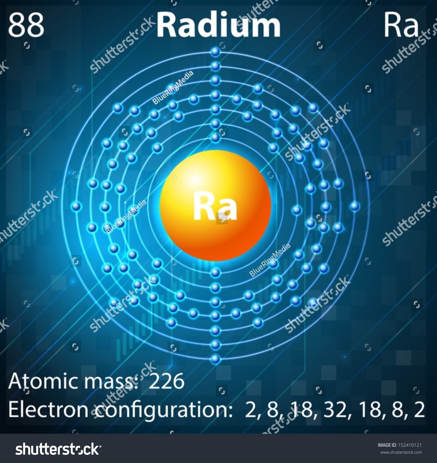 Illustration element radium stock vector 152410121 shutterstock illustration of the element radium pooptronica