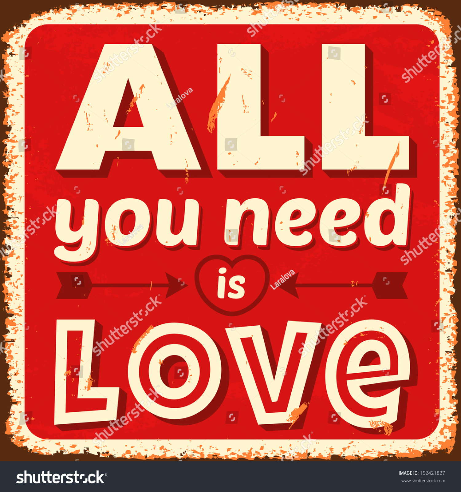 All You Need Is Love. Vector I...