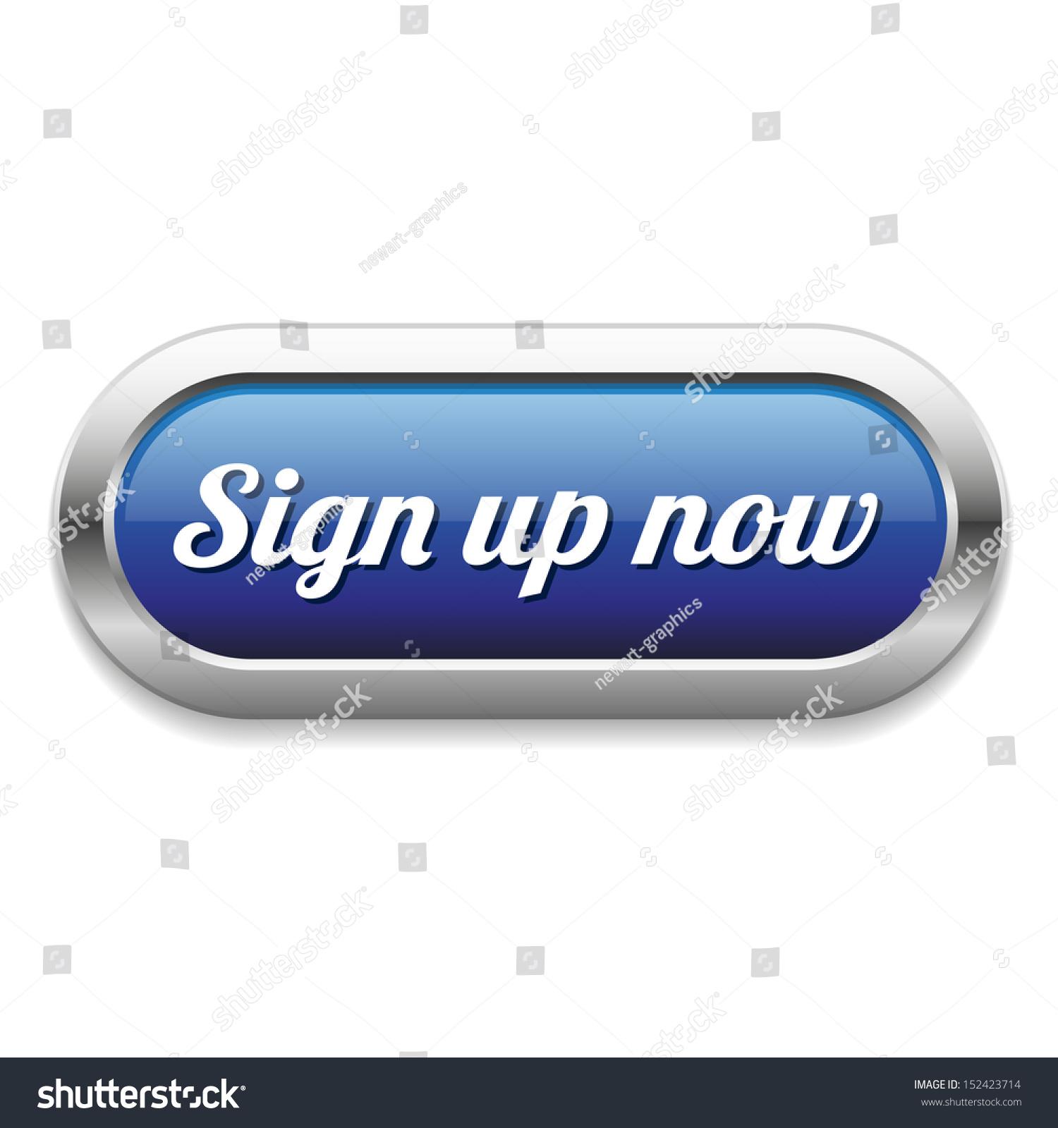 Long Blue Sign Now Button Stock Vector 152423714 ...