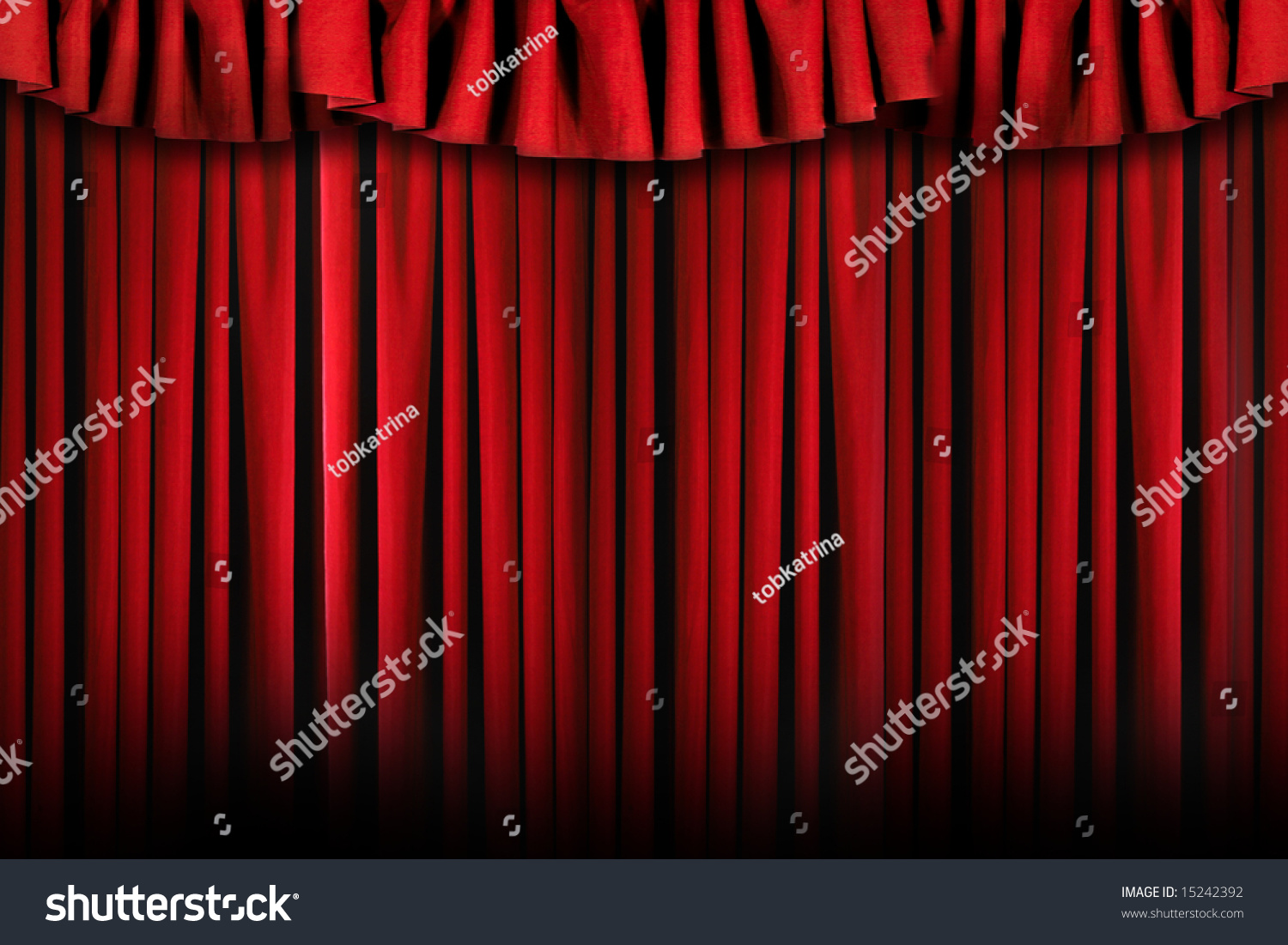 Stock photo dramatic red old fashioned elegant theater stage stock - Theater Stage Drapes With Top Swag