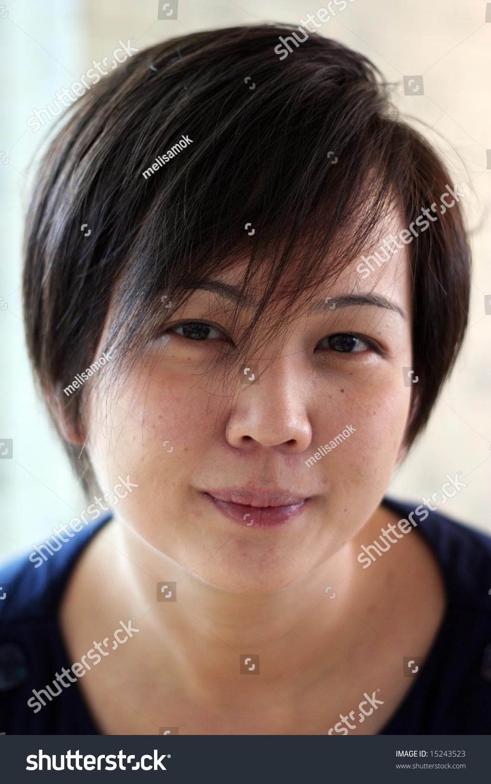 Asian Girl Short Hair Stock Photo Royalty Free 15243523 Shutterstock