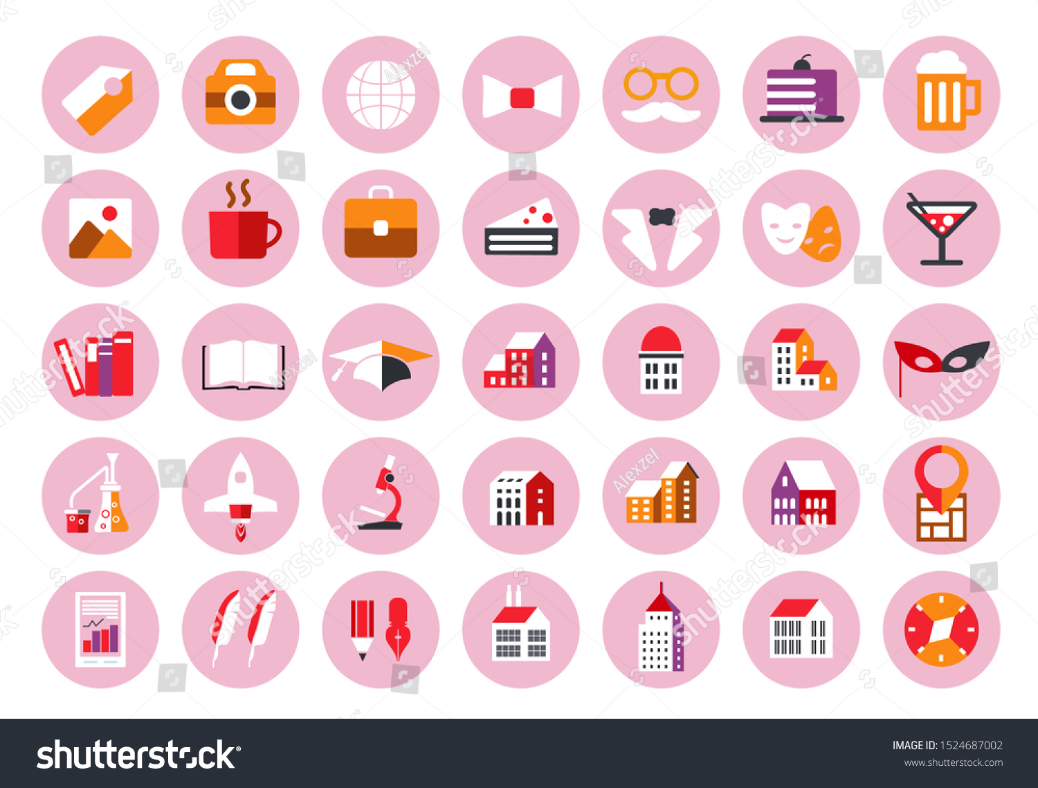 Instagram Highlights Stories Covers Icons Pastel Stock Vector Royalty Free 1524687002