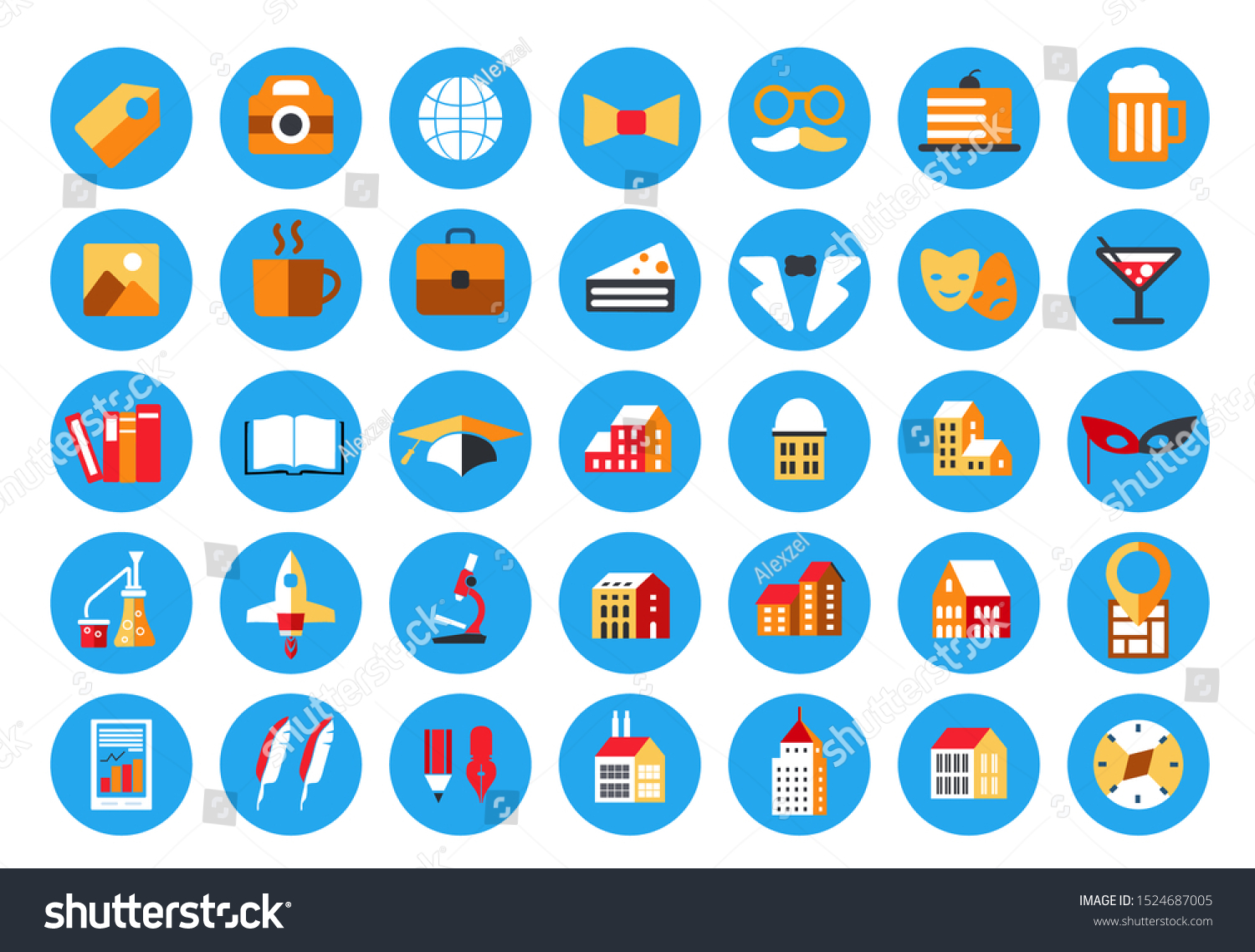 Instagram Highlights Stories Covers Icons Pastel Stock Vector Royalty Free 1524687005