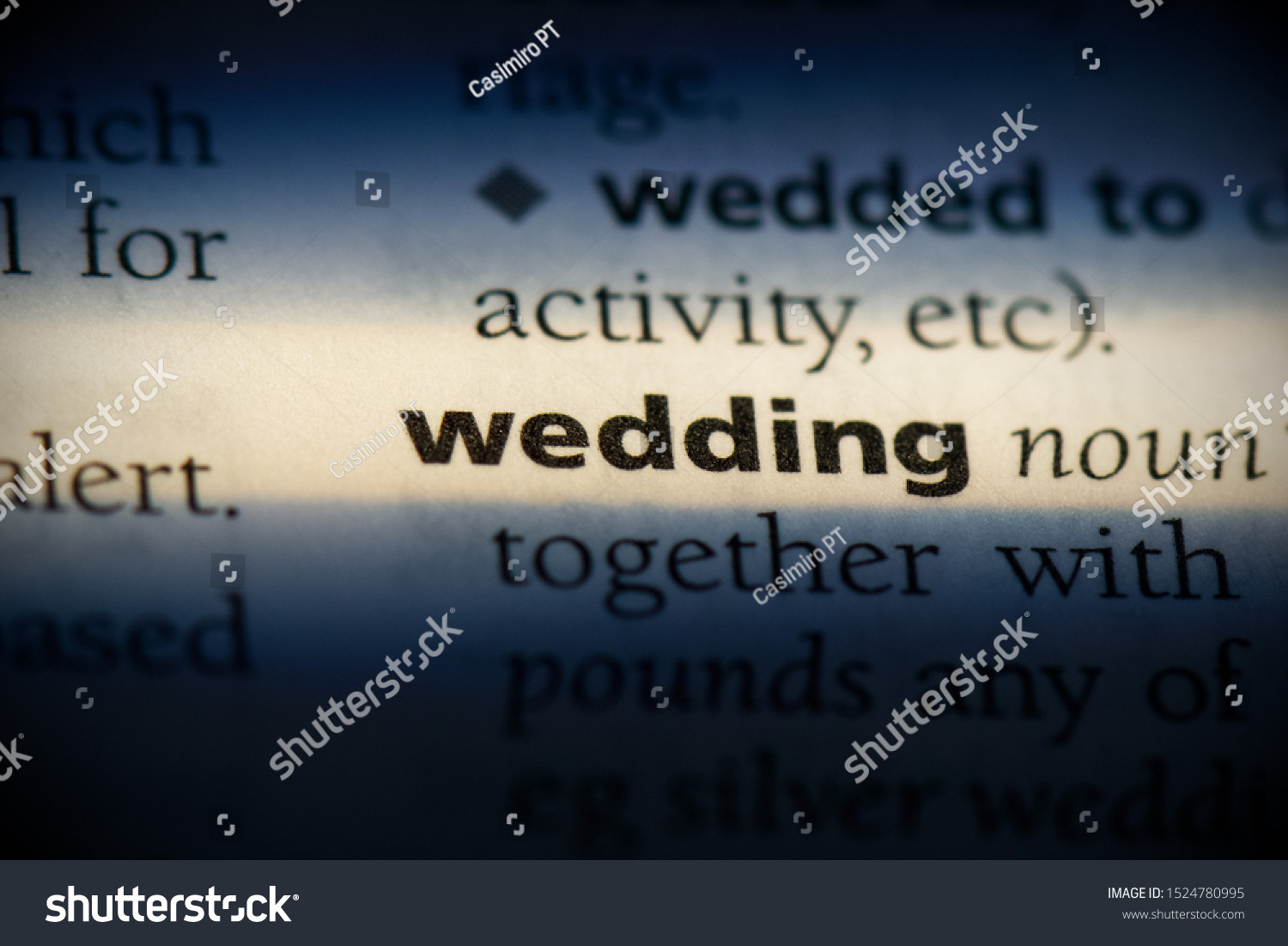Wedding Word Dictionary Wedding Concept Definition Stock Photo Edit Now 1524780995