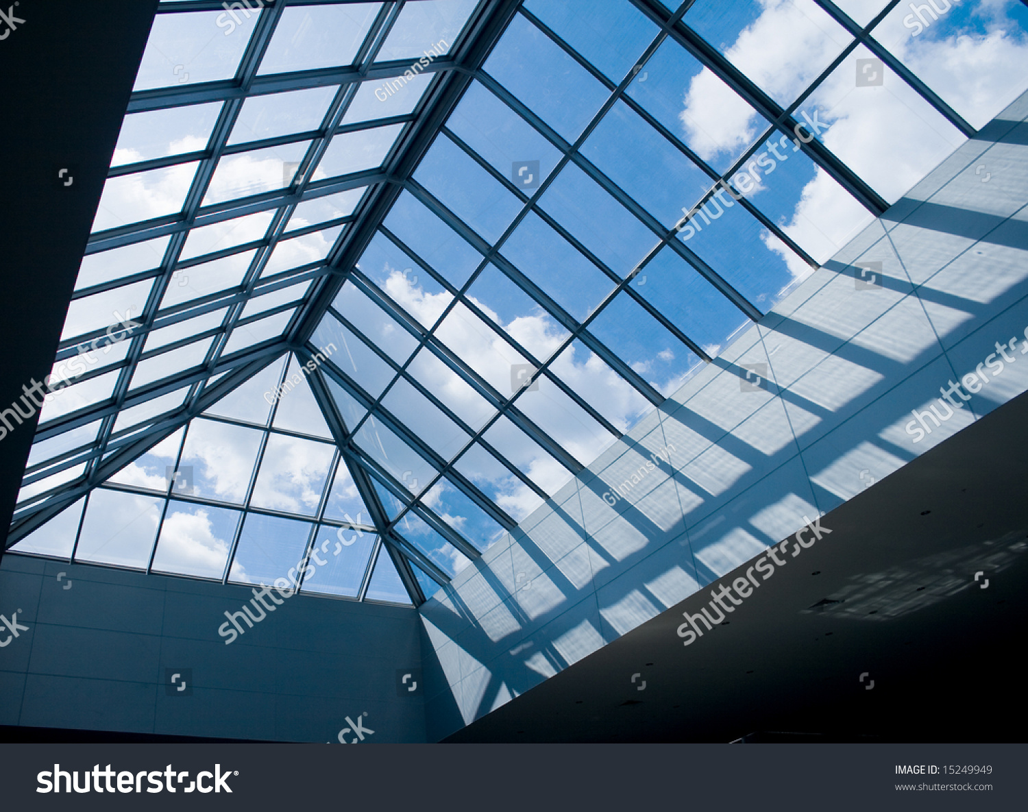 Modern Design Office Building Glass Panel Stock Photo