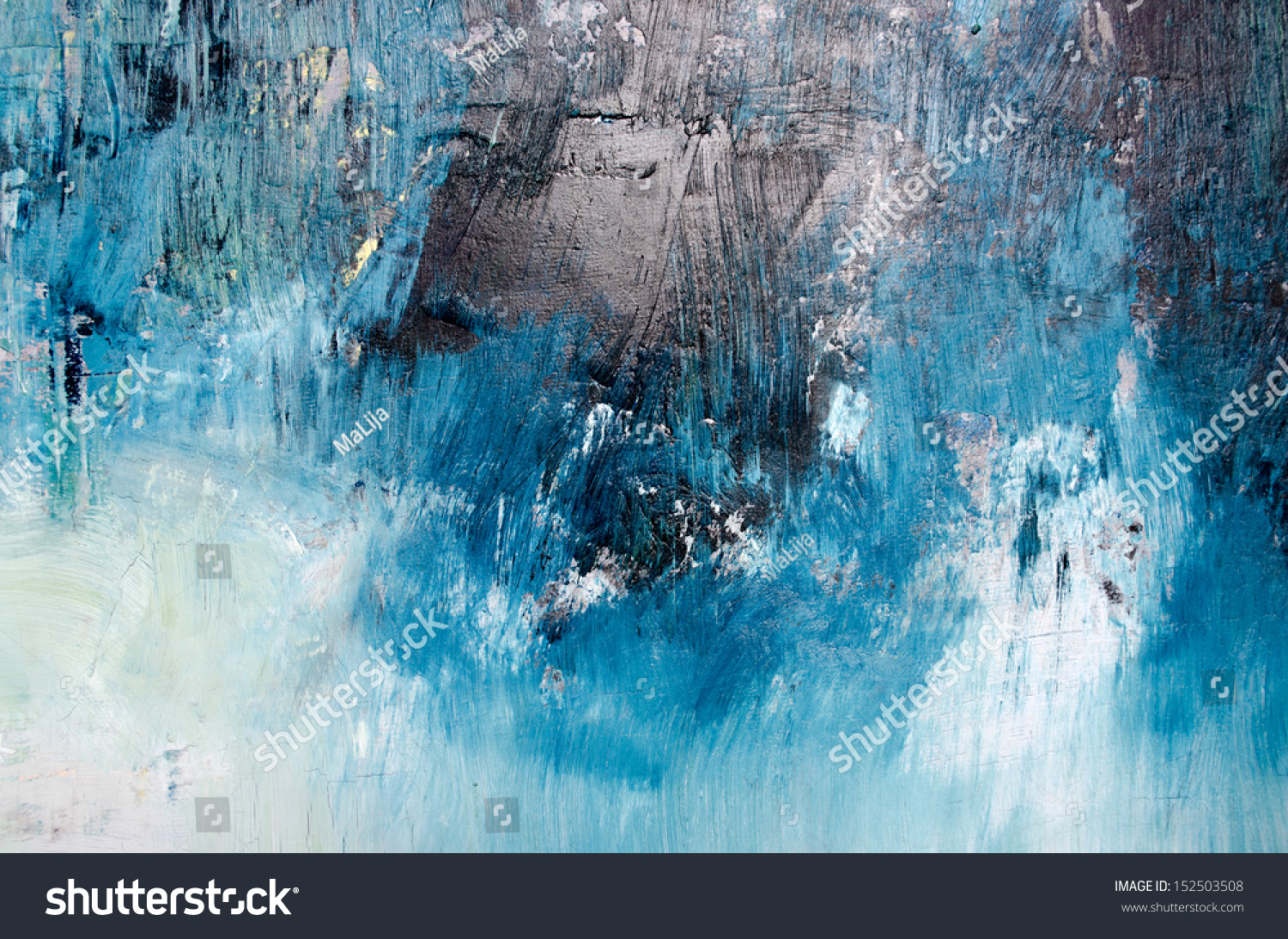 Oil Painting Abstract Texture Background Stock Illustration
