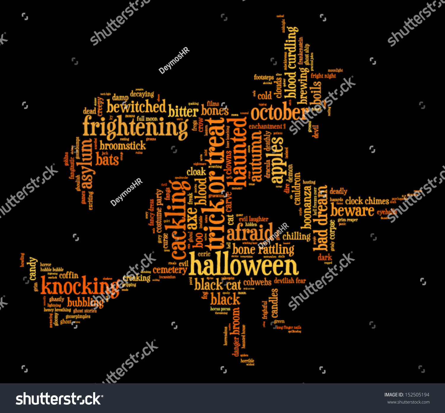 Halloween word cloud vector shape witch stock photo photo vector halloween word cloud vector in shape of a witch on a broomstick on black background with gumiabroncs Gallery