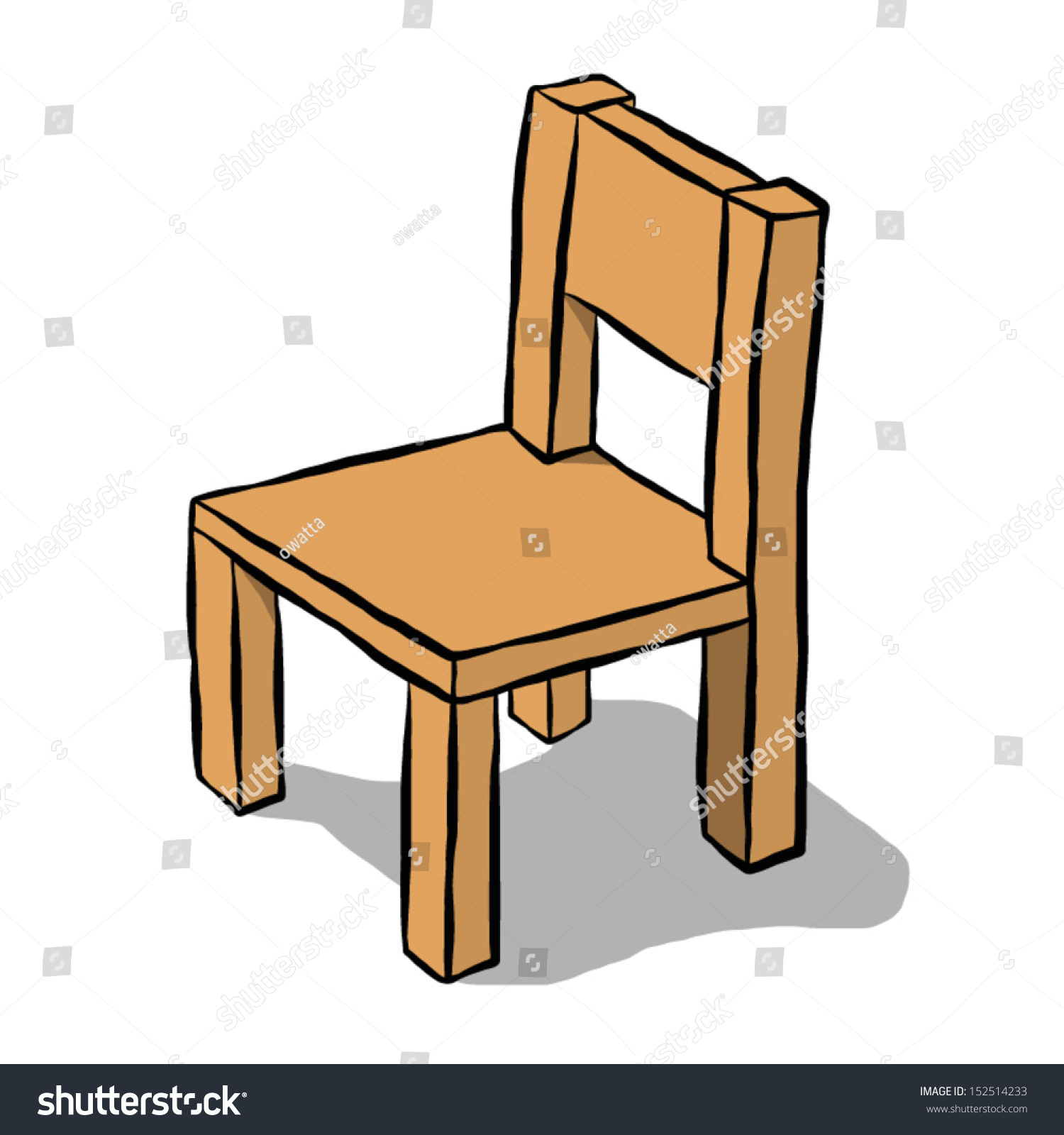 Brown wooden chair cartoon vector and illustration for Wood chair images