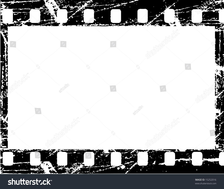 Aged Vector Illustration Grunge Filmstrip Frame Stock Photo (Photo ...