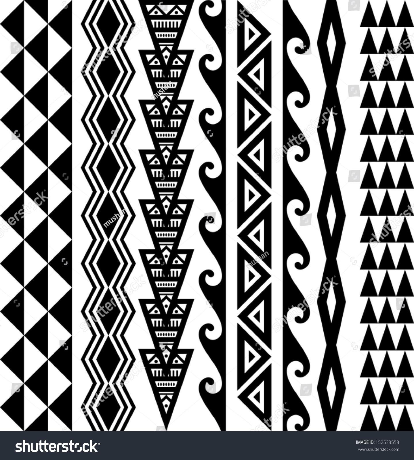 royalty free kakau hawaiian tattoo collection 152533553. Black Bedroom Furniture Sets. Home Design Ideas