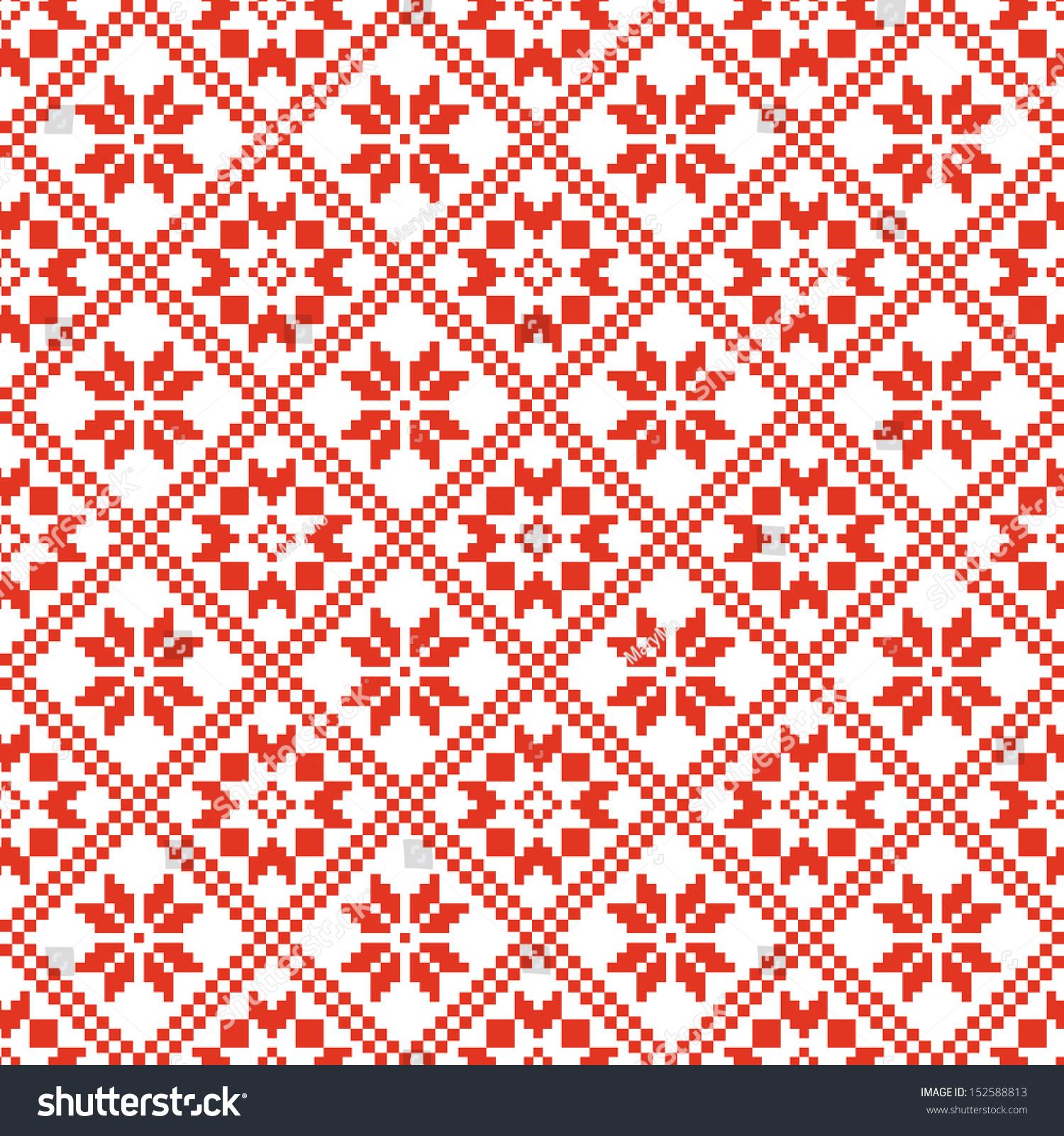 Traditional Scandinavian Pattern Nordic Ethnic Seamless