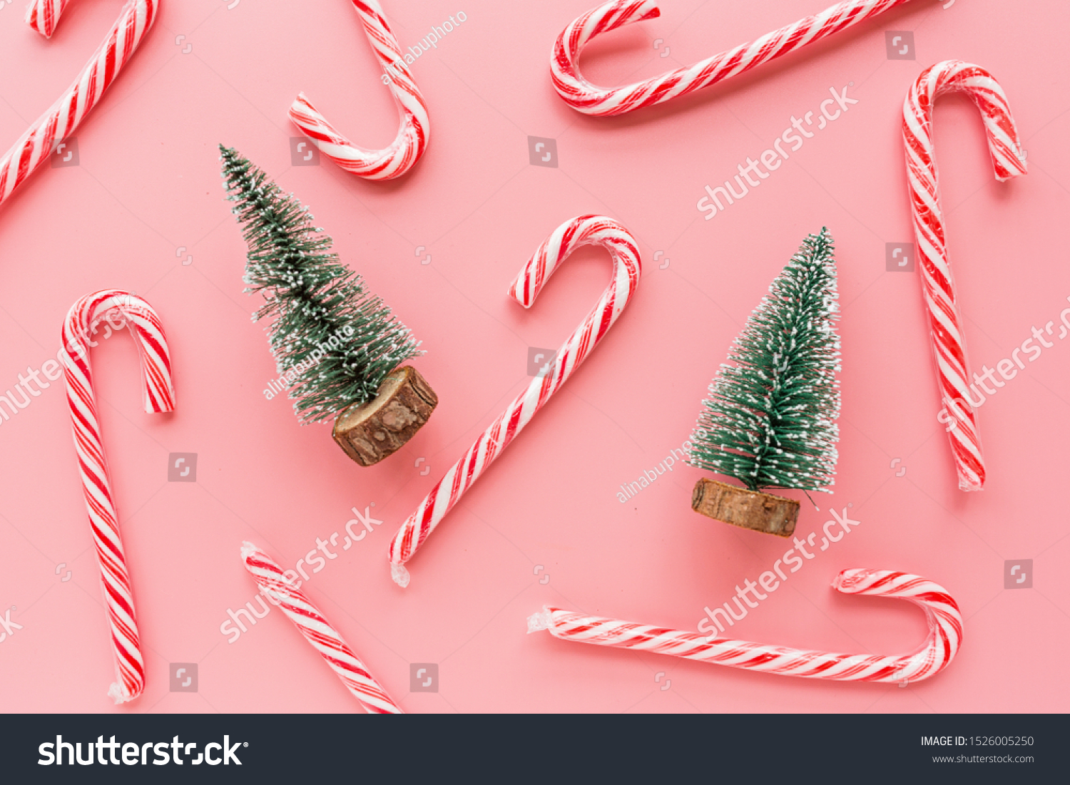 Top View Christmas Tree Many Candy Stock Photo Edit Now 1526005250