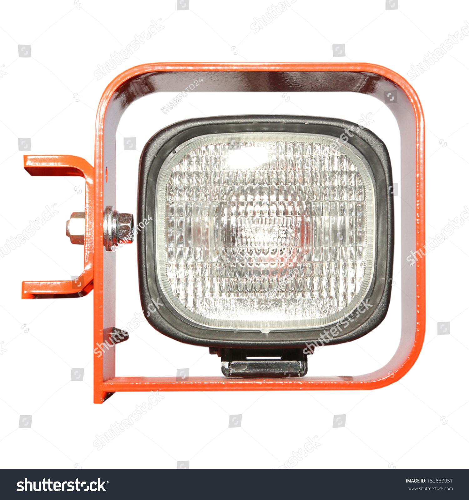 Dipped Beam Headlights : Automobile headlight dipped beam of excavator car stock