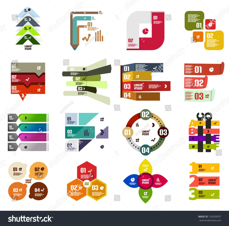 Set Modern Infographic Design Templates Elements Stock Vector ...