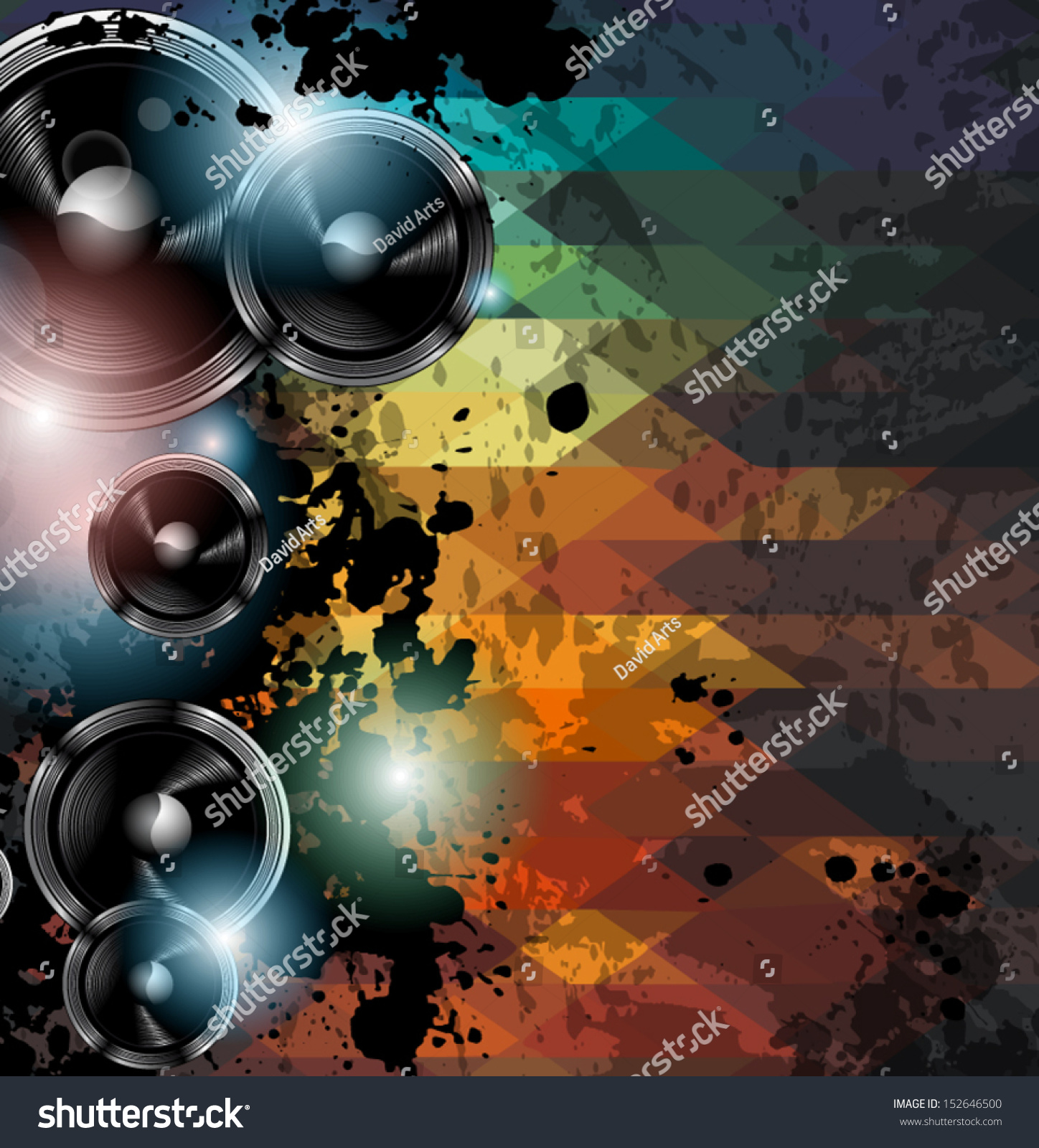 Disco Club Flyer Template Abstract Background Stock Vector Royalty