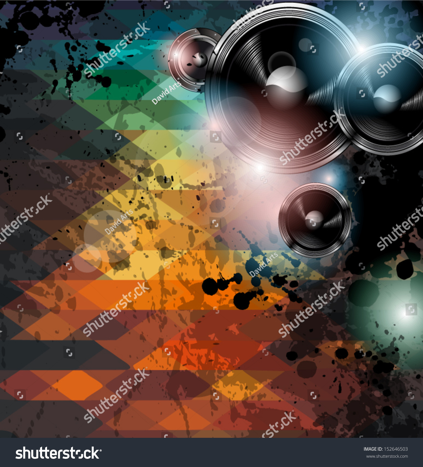 disco club flyer template abstract background stock vector