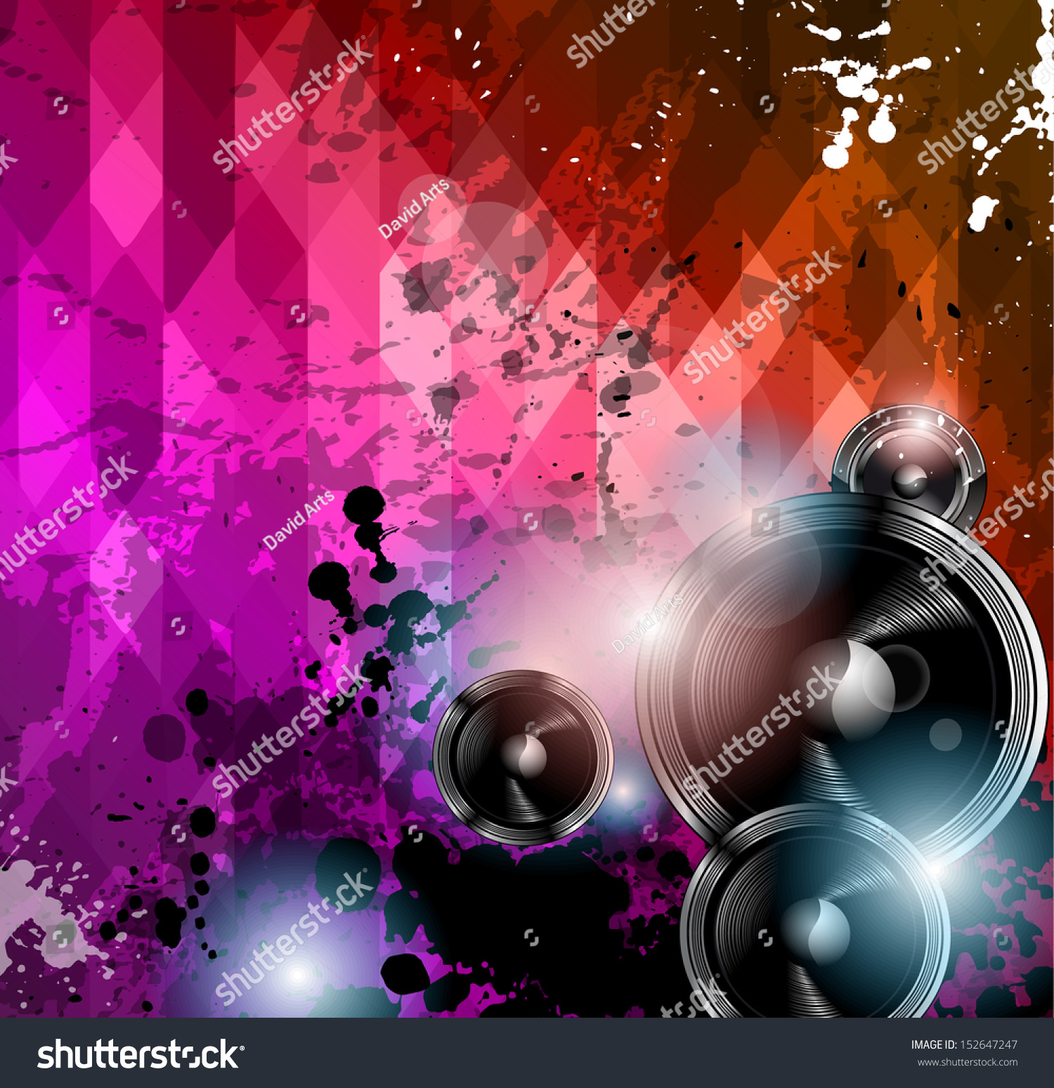 disco club flyer template abstract background stock