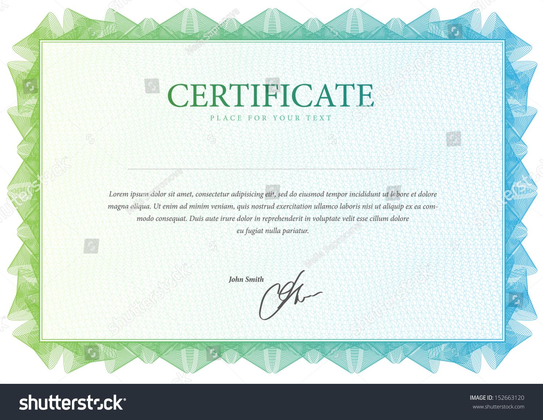 Blank Certificate Template Blank Certificate Templates | Sainde.org